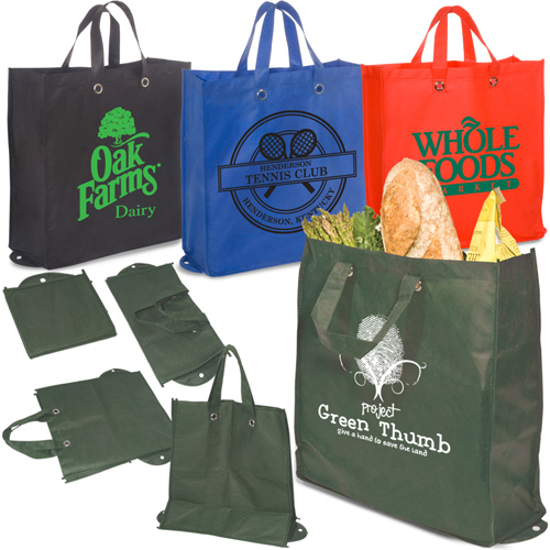 Promotional Eco-Green Re-Usable Shopper - 80GSM