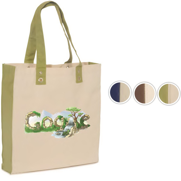 Imprinted Eco-World Tote - 10 oz. Cotton