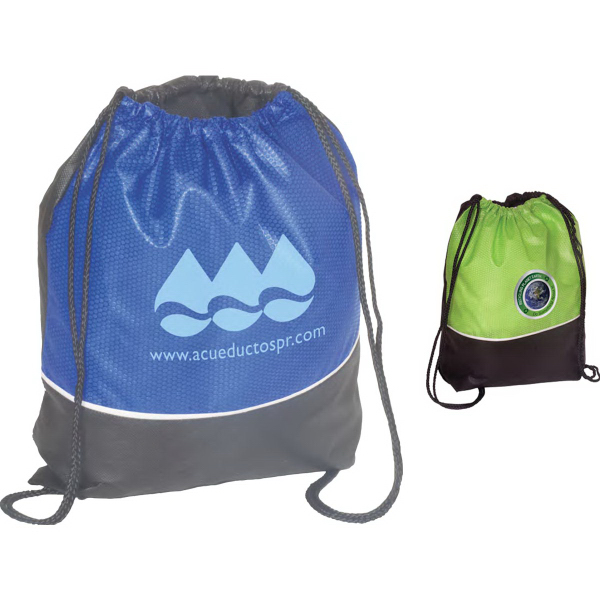 Printed Non-Woven Textured String Backpack - 80GSM