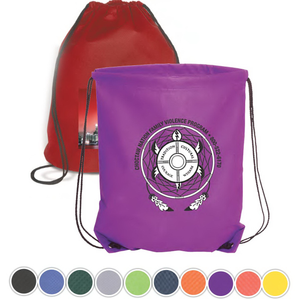 Customized Econo Non-Woven String Backpack - 80GSM