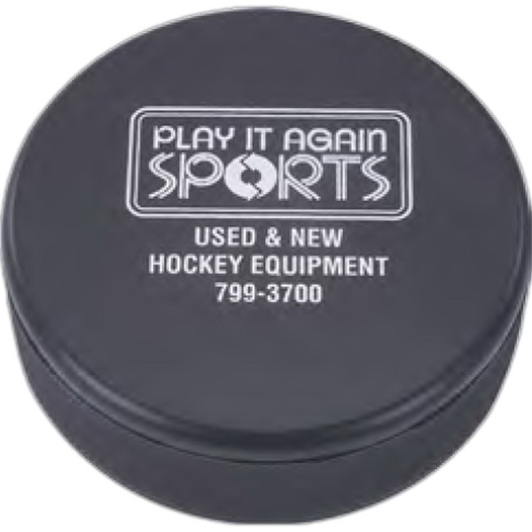 Printed Hockey Puck Stress Reliever