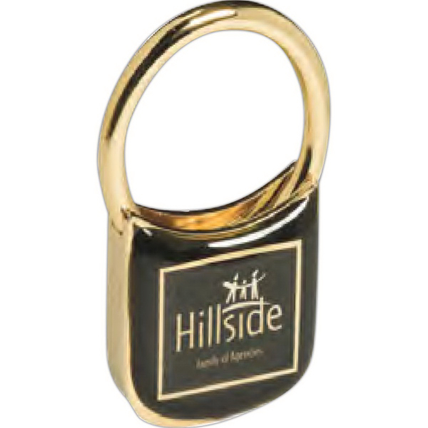 Personalized Lusterdome (TM) Key Tag