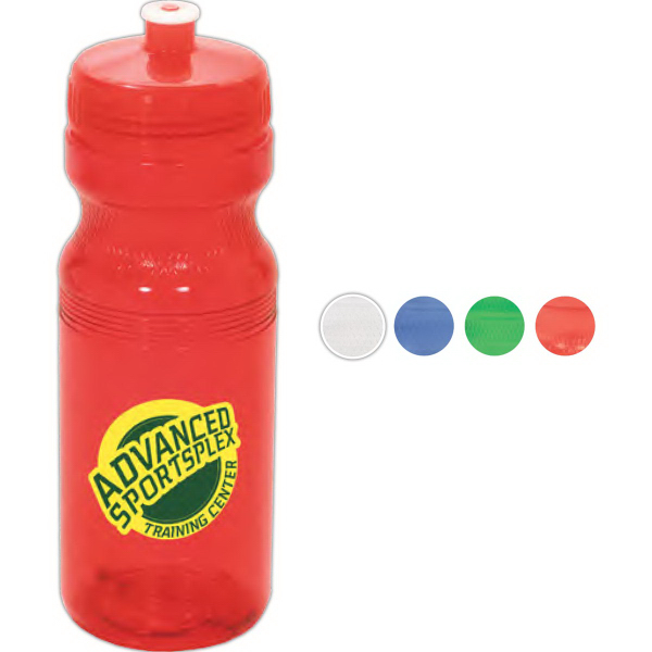 Imprinted Big Squeeze PolyClear ()TM) Sport Bottle