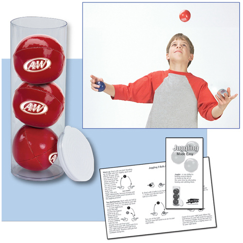 Custom 3-Ball Juggling Set in Case