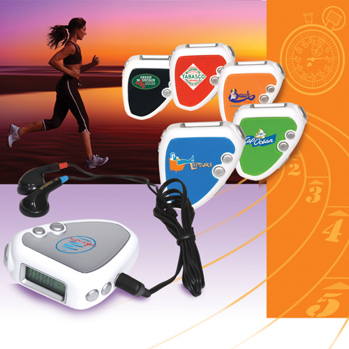 Imprinted Audio Jogger Pedometer/FM Radio
