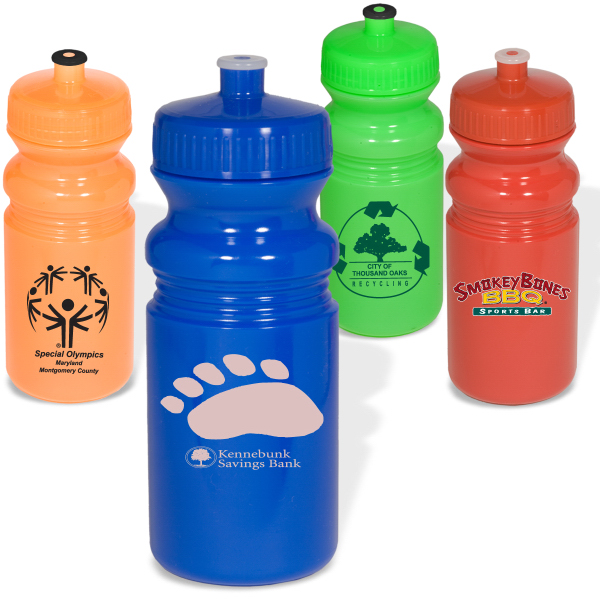 Imprinted Eco-Safe PolyClear (TM) Small Water Bottle