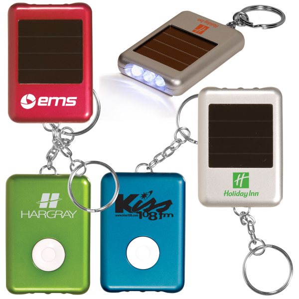 Imprinted Solar Safety Key Light