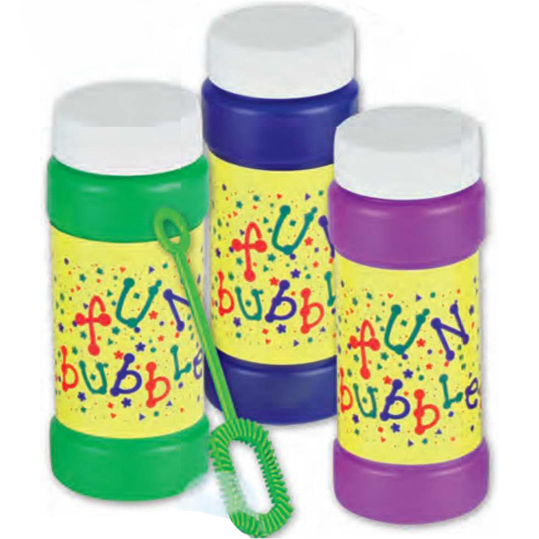 "Imprinted Four Ounce ""FUN"" Bubbles (Blank)"