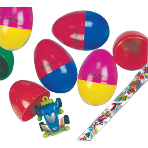 "Imprinted 2 1/2"" Toy Filled Plastic Easter Egg (Imprinted)"