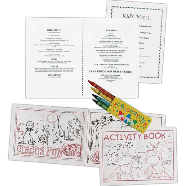 Printed Stock Coloring/Activity Book (Blank)