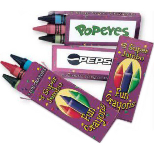 Promotional Jumbo Crayons - Three Pack (Imprinted)