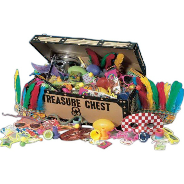 Imprinted Pirates Treasure Chest with 96 Choice Toys (Blank)