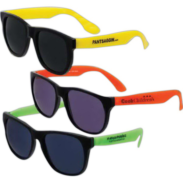 Promotional Economy Neon Sunglasses (Imprinted)