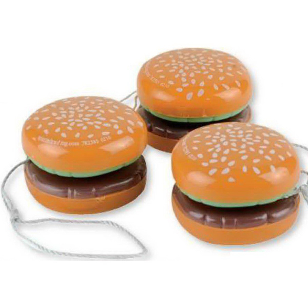 Personalized Plastic Hamburger Yo-Yo (Imprinted)