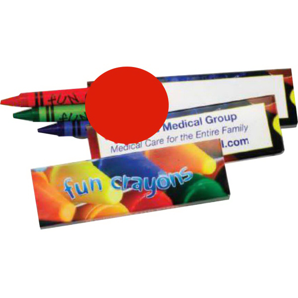 Customized Three Pack of Crayons (Imprinted)