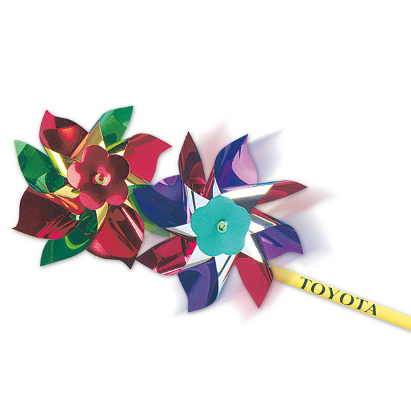 "Custom 7"" Metallic Pinwheel (Imprinted)"