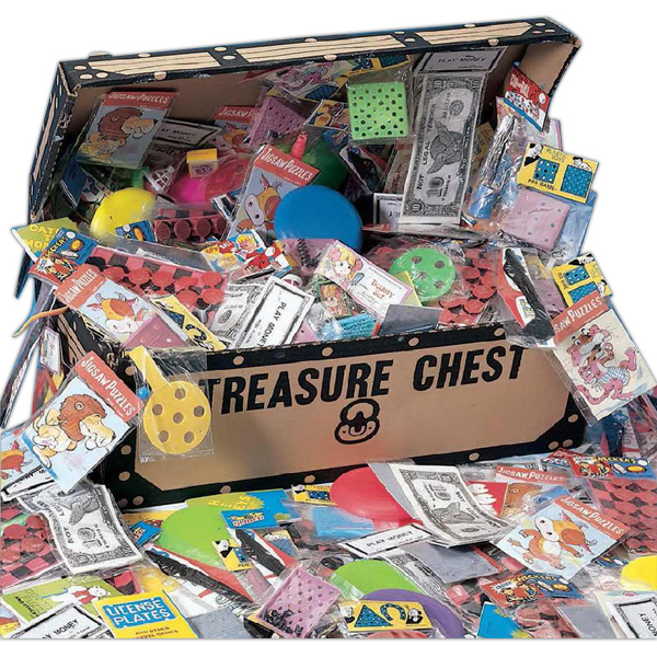 Customized Pirate's Treasure Chest with 200 Popular Toys (Blank)