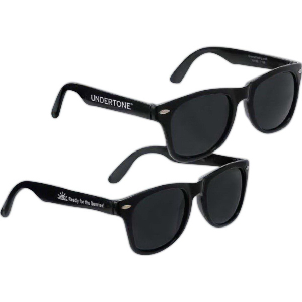 Custom Economy Black Sunglasses (Imprinted)