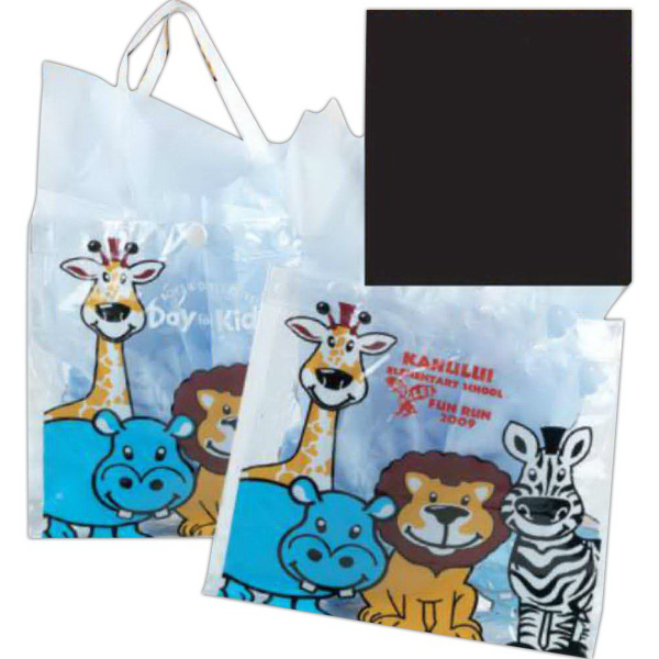 Printed Vinyl Safari Tote Bag (Imprinted)