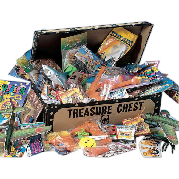 Imprinted Pirate's Treasure Chest with 50 Deluxe Toys (Blank)