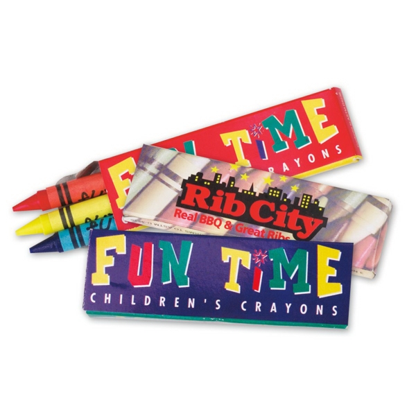 Promotional Custom Crayons - Three Pack