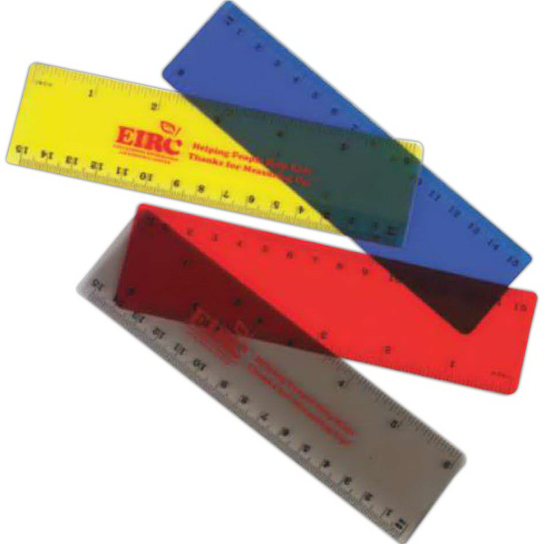 "Promotional 6"" Translucent Ruler (Imprinted)"