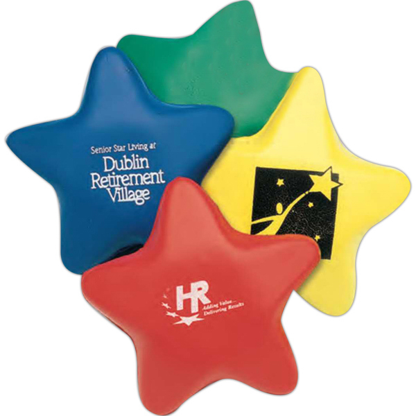 "Custom 3"" Foam Stress Star (Imprinted)"