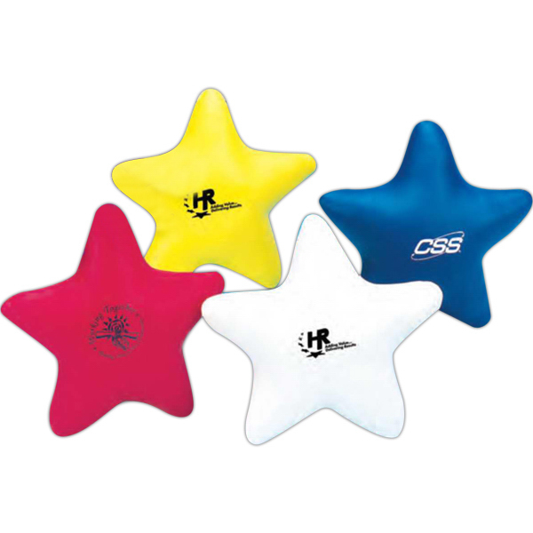"Imprinted 4"" Vinyl Stress Star (Blank)"
