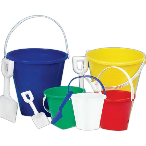 "Promotional 9"" Larger Pail (Imprinted)"