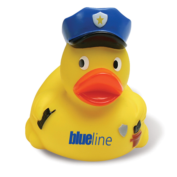 Personalized Policeman Rubber Duck