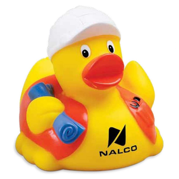 Custom Construction Worker Rubber Duck