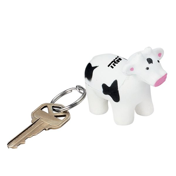 Promotional Cow shape stress reliever key ring