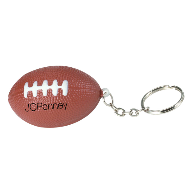 Customized Football Stress Reliever Keychain