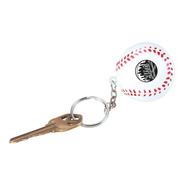 Customized Baseball Stress Reliever Key Chain