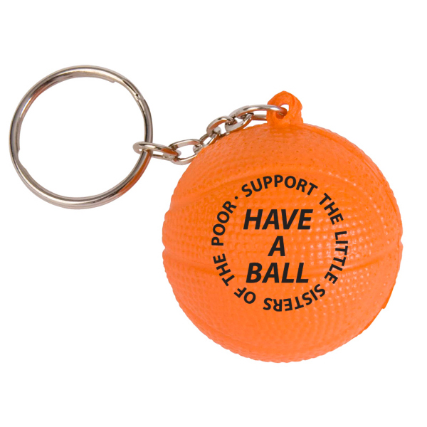Personalized Basketball Stress Reliever Key Chain