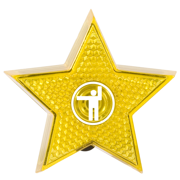 Personalized Star Flashing Button