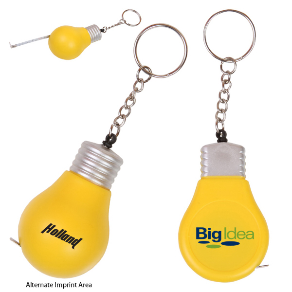 Promotional Light Bulb Key Holder/Tape Measure