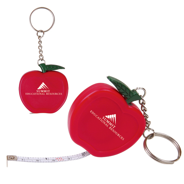 Imprinted Apple Key Holder/Tape Measure