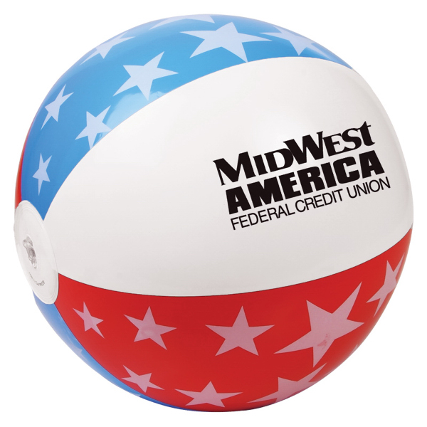 "Printed 16"" USA Beach Ball"