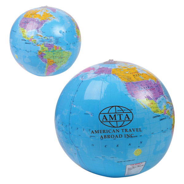 "Promotional 14"" Global Beach Ball"