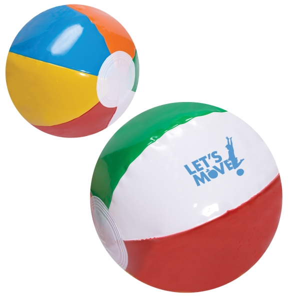 "Imprinted 6"" Multi Color Beach Ball"