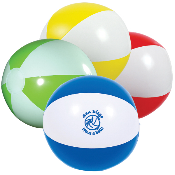 "Customized 16"" Two-Tone Beach Ball"