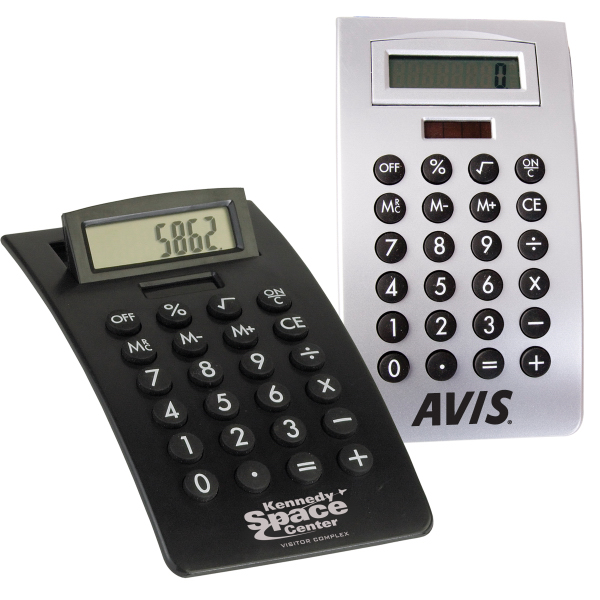 Imprinted Curved Desktop Calculator