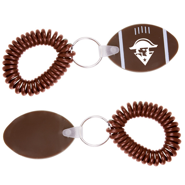 Customized Football Key Chain with Coil
