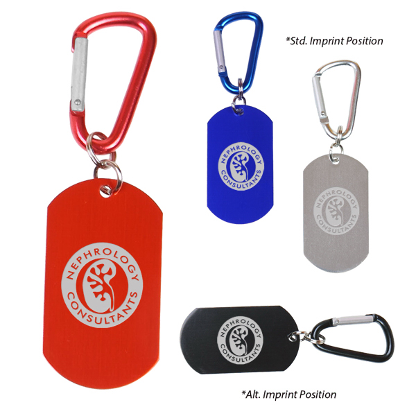 Personalized Dog Tag on Carabiner