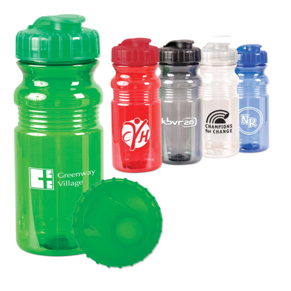 Custom 20 oz. Translucent Sport Bottle w/ Snap