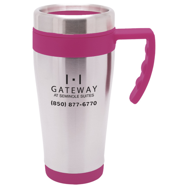Personalized 16 oz. Blue Bullet Travel Mug