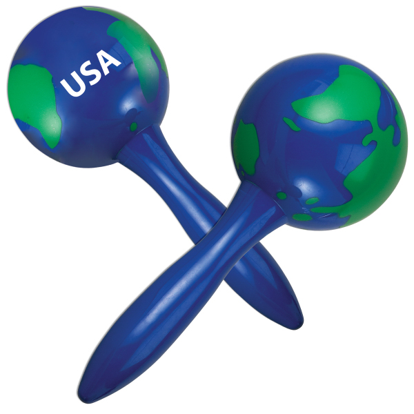 Imprinted Global Maracas