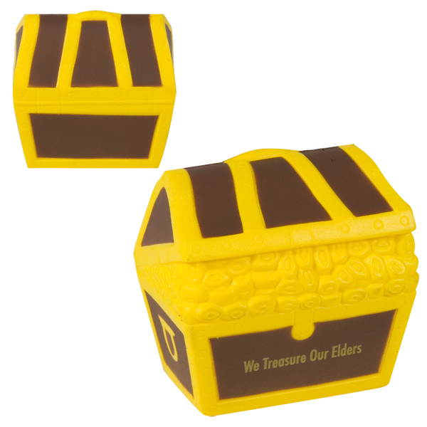Printed Treasure Chest Stress Reliever