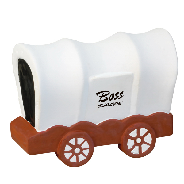 Imprinted Covered Wagon Stress Reliever